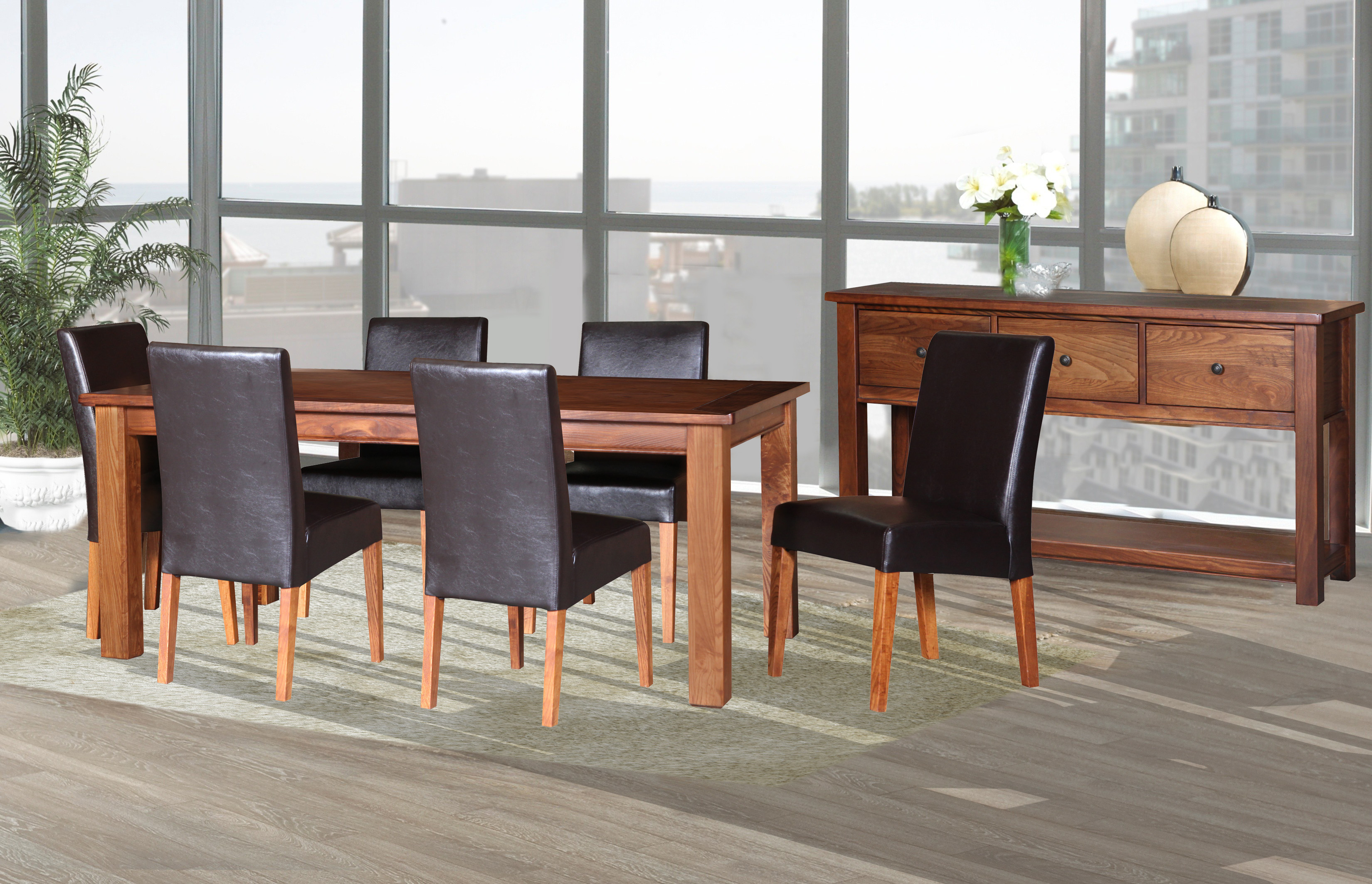 Paramount Dining with Upholstered Chair
